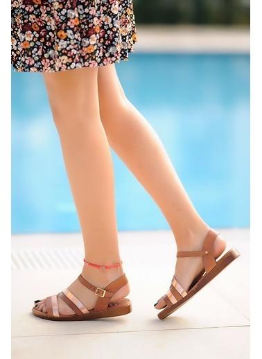 Pembe Potin A221-20 Kadın sandalet A221-20 Taba